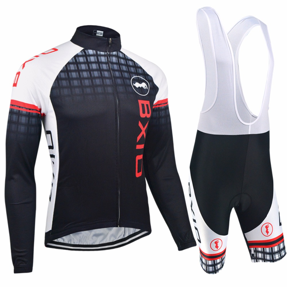 f8e542caddf Bxio Brand Long Sleeve Cycling Sets Black Biker Outfit Sets Skull Bike  Racing Clothing 3 Pockets Cycling Uniformes Ciclismo 12
