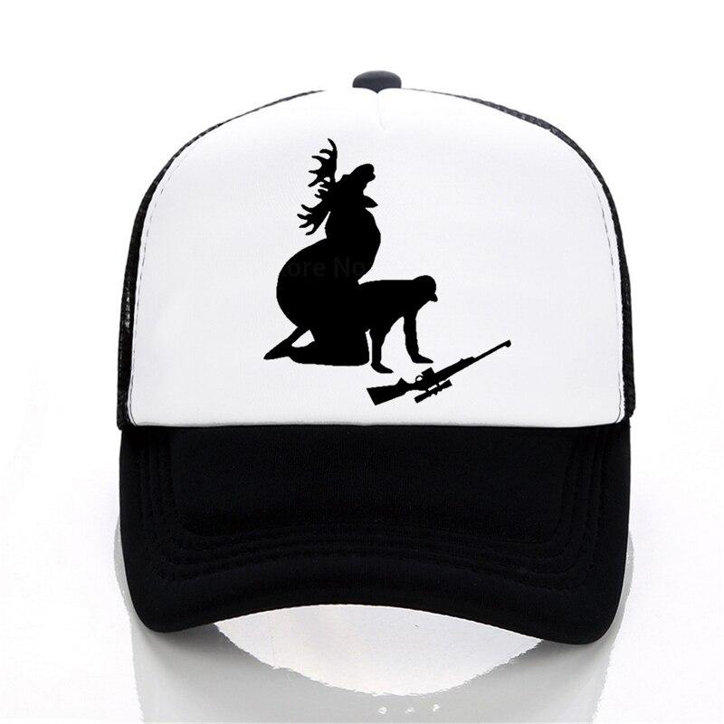 Moose Hunting   Baseball     caps   Funny Print letters hat Summer outdoor sports   cap   Mesh trucker   cap   men snapback   caps