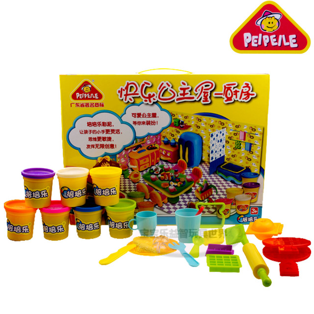eductional children toy dough plasticine rubber mud happy princess kitchen eco-friendly puzzle color clay toy