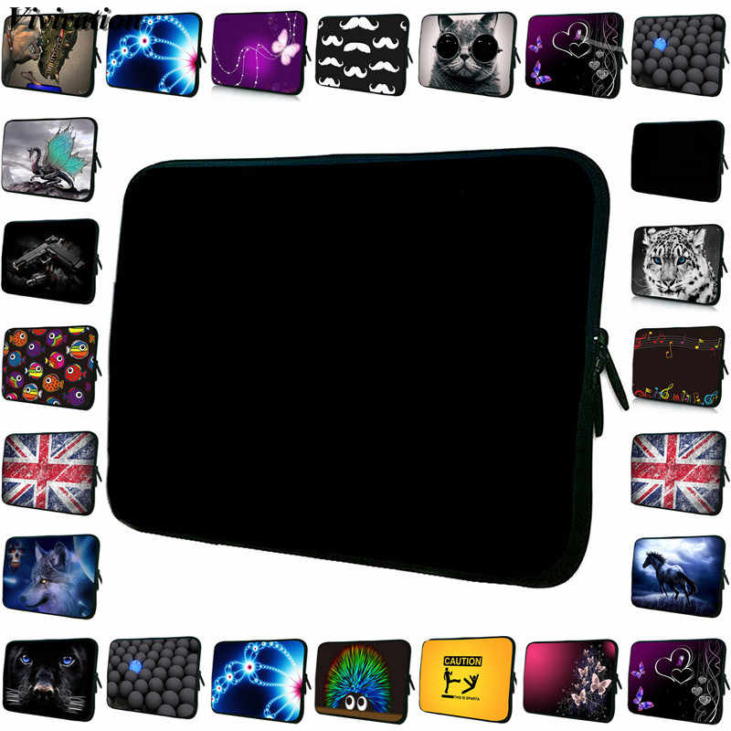 Vrouwen Mens Brefcase Prints Zwarte Laptop Tas 17.3 17 15 15.6 14 13 12 11.6 13.3 10 10.1 9.7 10.2 tablet Netbook PC Bag Cover Case