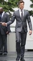 Wedding is suitable for the 2018 gray gentleman dress gun collar men two buttons 2 suit slim fit wedding (coat + pants + tie)