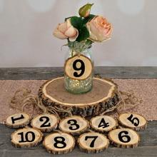 1-10 цифр, деревенский деревянный подвесной орнамент, настольный номер, цифра, карта, цифровое сиденье, Декор, свадебные принадлежности, украшение для дома