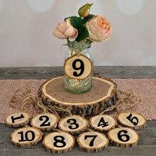 1-10 цифр деревенский деревянный висячий орнамент номер стола фигурная карта цифровое сиденье Декор свадебные принадлежности для вечеринок домашнее украшение
