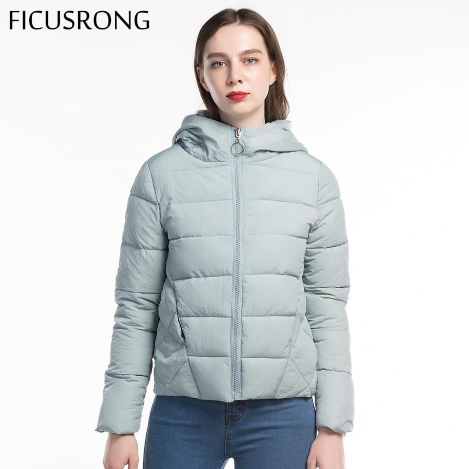 FICUSRONG Woman Coat Warm Hooded Winter Jacket Women Plus Size L-6XL New 2019 Causal Full Sleeve Zipper Slim Parkas Female