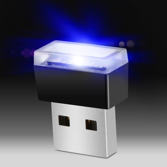 1 piezas de accesorios de coche de luz LED de atmósfera USB para Peugeot 206 207 208 301 307 308 407 408, 508, 607, 2008, 3008, 4008