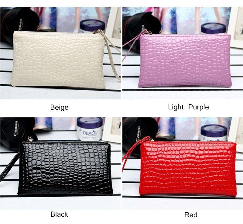 New Mini Day Clutches Women's Bag Korean Version Crocodile Pattern Clutch Bag Ladies Mobile Phone Bags Wallet PU Leather Handbag (4)