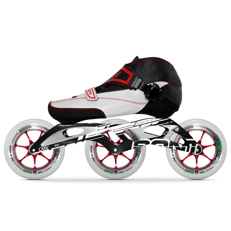 100% Original Bont Enduro 2PT 195MM Black CXXV Speed Inline Skates Heatmoldable Carbon Fiber Boot 3*125mm Magic Wheel Patines цена