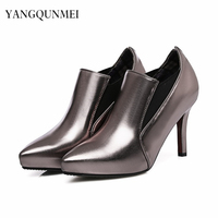 Pumps PU Shoes Woman S Big 44 45 46 47 Small Shoes 31 32 33 High