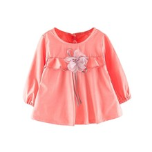 Spring New Arrival Baby Girls Dresses Long Sleeve Cute Dress For Kids Princess Straight