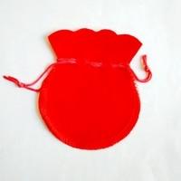 Оптовая продажа 1000 шт много Красный Drawable бархат Чехлы 7x9 см подарок Сумки для ювелирных изделий упаковка Бесплатная доставка vep004
