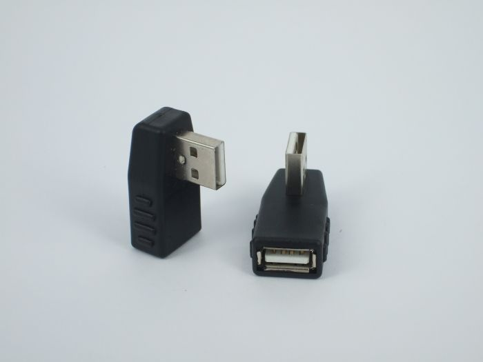 USB male the female right angle turn 90 degrees turn joint USB2 0 mother revolution of