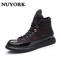 NUYORK Leather First Grade PU Leather Men S Flats Spring Autumn Winter Men Casual Flat Man
