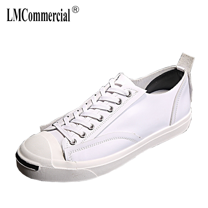 new Genuine Leather men's shoes flat all-match cowhide breathable sneaker fashion boots men casual shoes spring autumn summer m genreal 2017 new women white shoes all match summer breathable leather shoes vulcanized casual shoes candy color lace 35 39