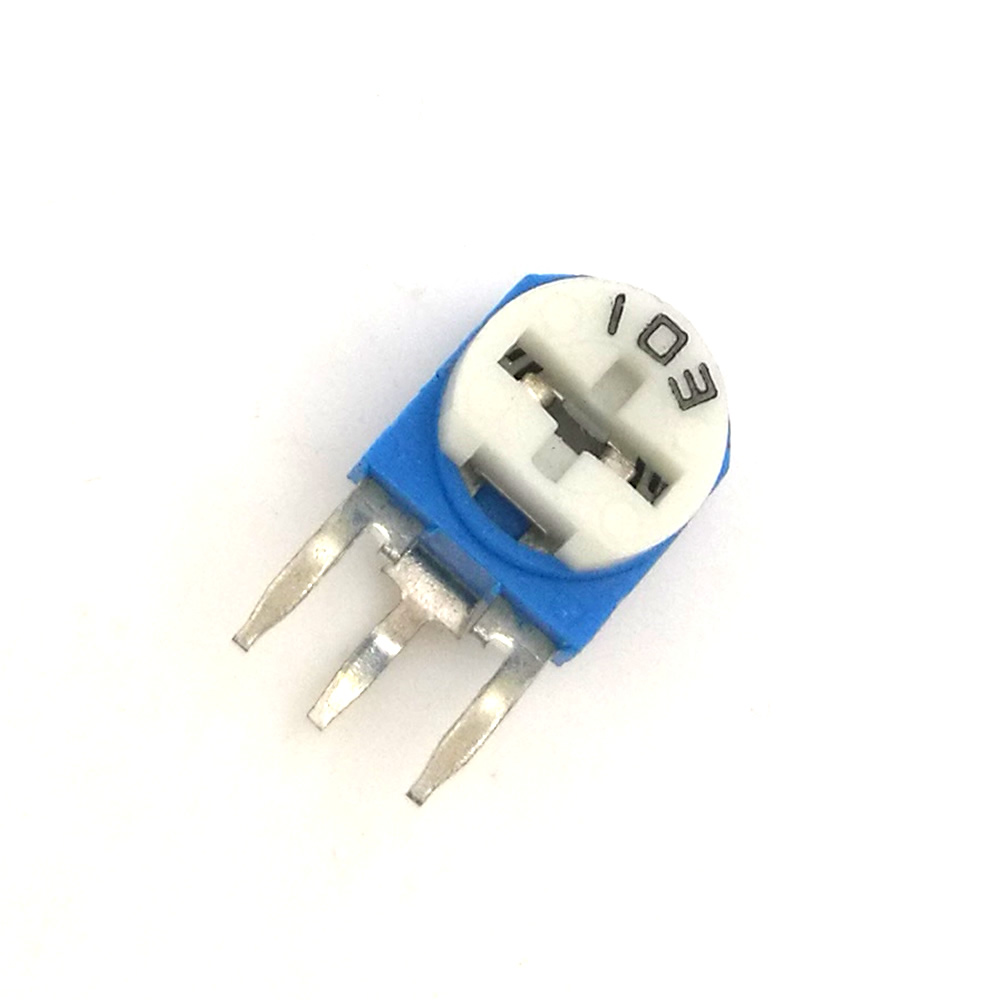 Image 3 - RM063 (blue white) blue and white can be adjusted resistance potentiometer 100 1K 2K 5K 10K 20K 50K 100K 200K 500K 1M ohm-in Potentiometers from Electronic Components & Supplies