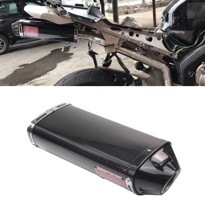 Réel de Fiber De Carbone 38-51mm D'échappement Tuyau D'échappement Aucune DB Tueur pour Moto Sous Coussin D'échappement Modifié pour CBR600 CBR1000 F5