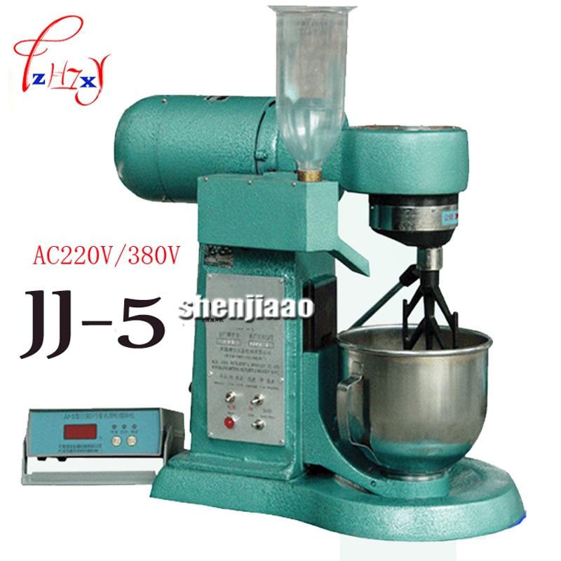 AC 220v / 380v JJ-5 cement mortar mixer type Cement mortar mixer cement mixer 5L plastic sand machine cement