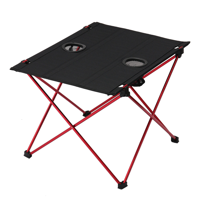 Tomshoo Outdoor Aluminum Foldable Table Portable Collapsible Picnic With Carrying Bag For Camping Fishing Hiking