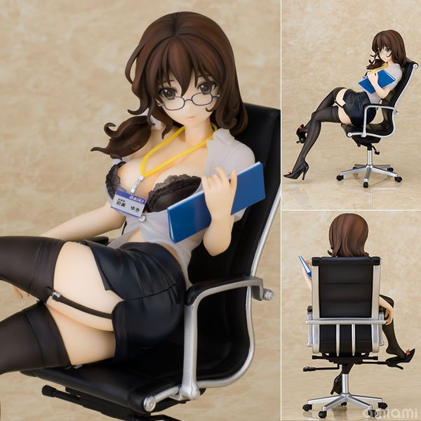 все цены на 1pcs 17CM pvc Japanese sexy anime figure Daiki Hatsumi uki secretary ver action figure collectible model toys brinquedos онлайн