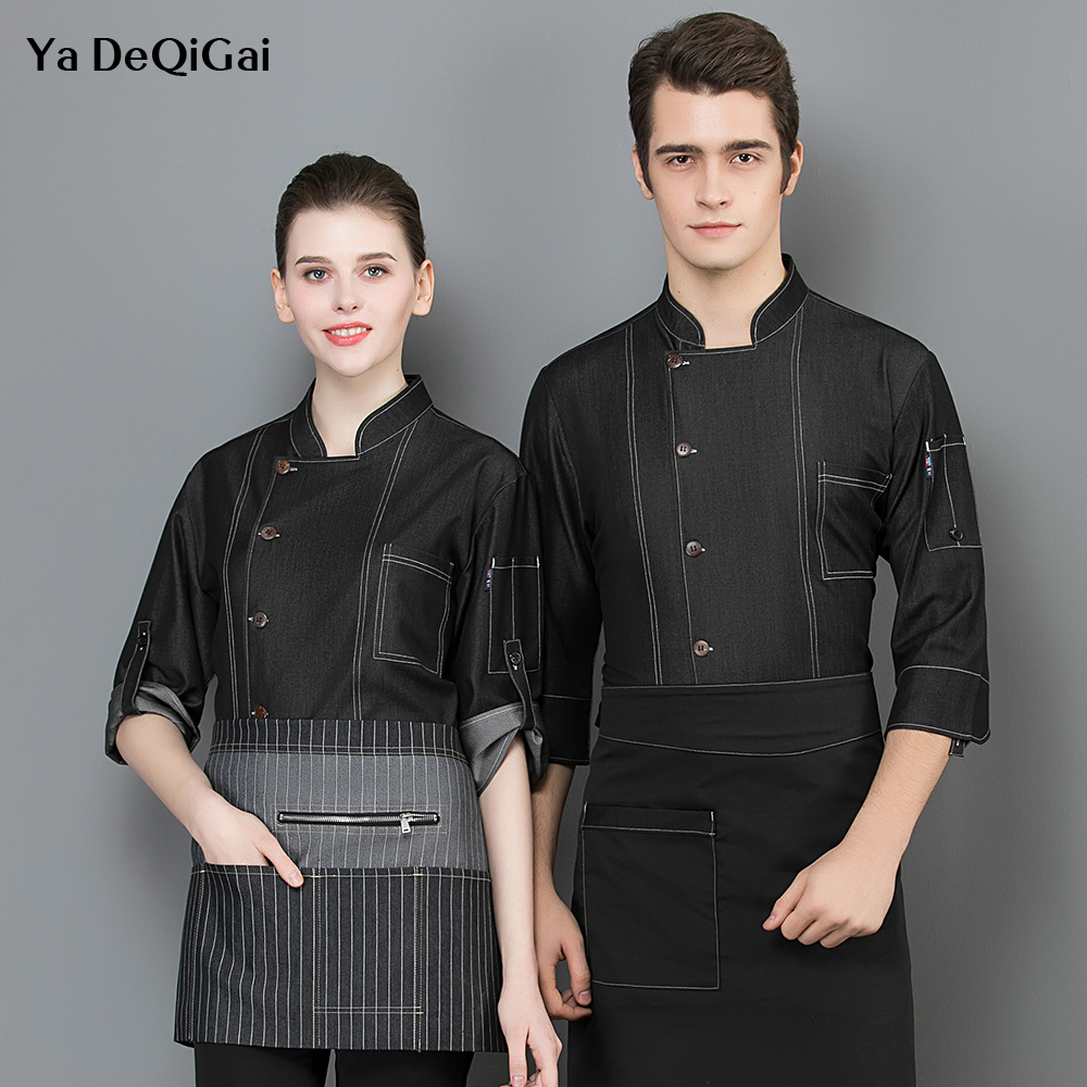 Food Service Breathable Chef Jackets Cooker Shirt Long Sleeved Restaurant Hotel Kitchen Chef Uniform Work Clothes Men And Women