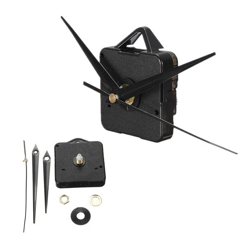1 Sets Schwarz Stille Quarz Uhr Teile Kit Hände Diy Quarz Wanduhr Bewegung Mechanismus Reparatur Teile äSthetisches Aussehen