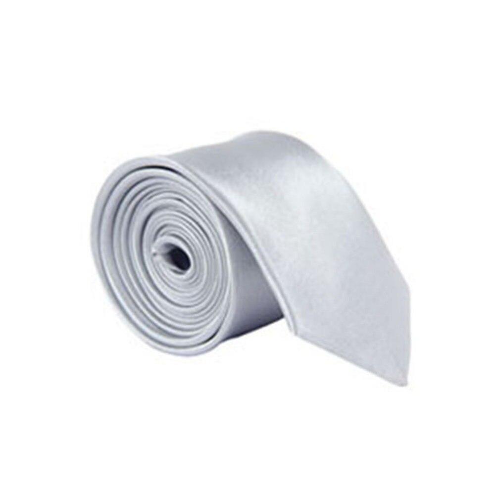 US Men/'s Classic Skinny Slim Tie Solid Color Plain Silk Jacquard Woven Necktie
