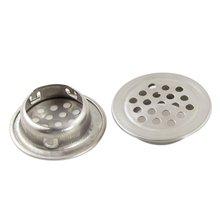 EWS!2Pcs Silver Stainless Steel 1.3″ Top Diameter Kitchen Sink Basin Drain Strainer