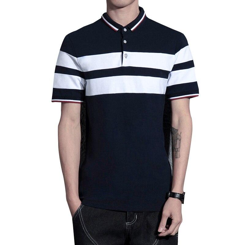 Lesbar 2019 Neue Männer Polo Shirt Männer Striped Beiläufige Feste Männliche Polo Shirt Kurzarm Polo-shirt Plus Größe 4xl Mutter & Kinder