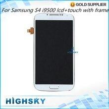 10 Шт./лот Дисплей Для Samsung Galaxy S4 ЖК i9500 Экран С сенсорный экран + Рамка AAA Качество Тестирования Новых 5 дюймов Бесплатная Доставка DHL EMS