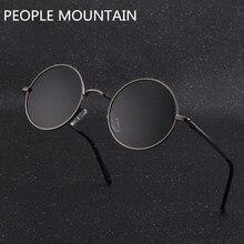 6bcc9d65c4 Clásico polarizado gafas de sol redondas de los hombres nuevos de marca de diseñador  Vintage Retro John Lennon gafas mujer condu.