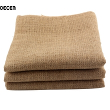 0e84043f3 160*50 cm tela de yute saco de tela de lino para el trabajo de mano DIY,  bolsas de almacenamiento decoración de Navidad OM115