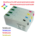 for epson ink cartridges Refillable ink Cartridge for Epson WorkForceProWP-4520WP-4530WP-4540 T676XL refill epson ink cartridges
