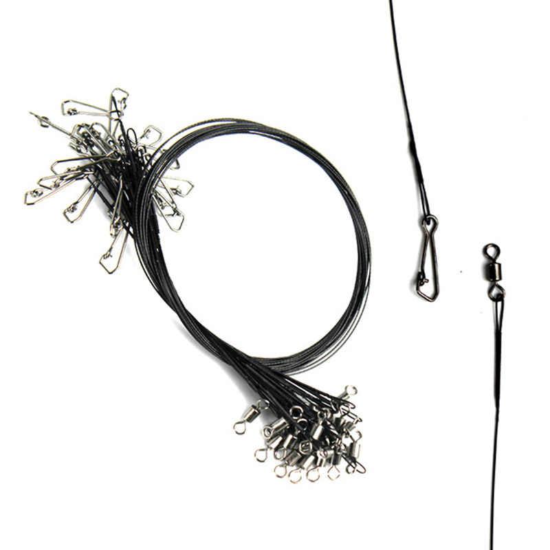 Tracer Fishing Wire Black Accessories 20Pcs Lures Anti bite Convenient