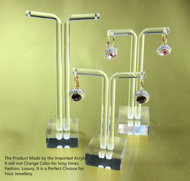 Acrylic Earring Display Holder 3 Pcs A Set Earrings Stand Clear