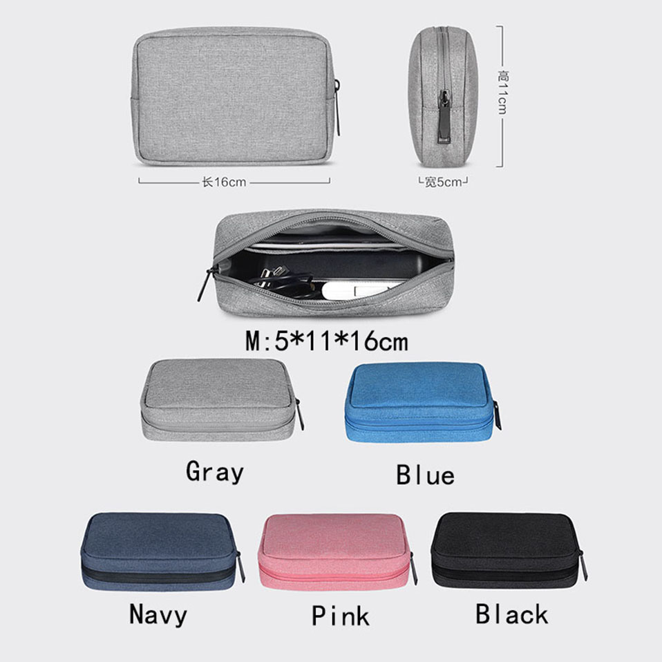 Travel Storage Portable Digital Accessories Gadget Devices Organizer USB Cable Charger Storage Case Travel Cable Organizer Bag (4)