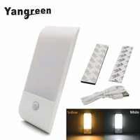 12 LED Rechargeable capteur de mouvement veilleuse activée Auto On/Off placard lumière USB Charge couloir applique murale avec bande magnétique