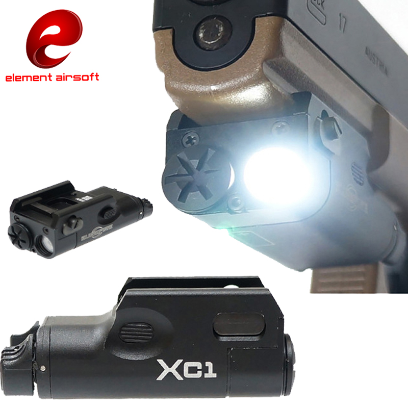 Element Airsoft Tactical xc1 pistol flashlight Weapon light Flashlight Glock  SF XC1 Ultra Compact Handgun M92 Light  EX414 black tactical ultra compact led handgun weapon pistol light xc1 mini flashlight for glock