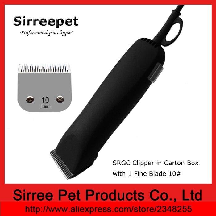 Tondeuse pour animaux de compagnie 45 W avec 1 lame fine 10 # dans une boîte en carton