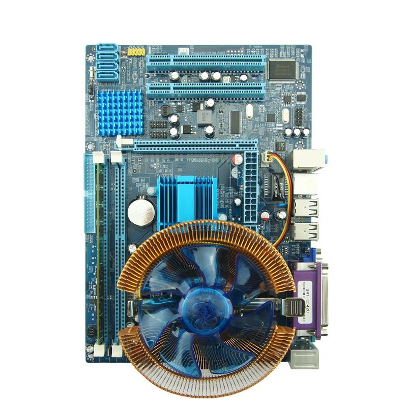 New computer motherboard quad-core 1 set  g41 board +5420quad-core + 4g 1333 DDR3 RAM onda p85s computer motherboard