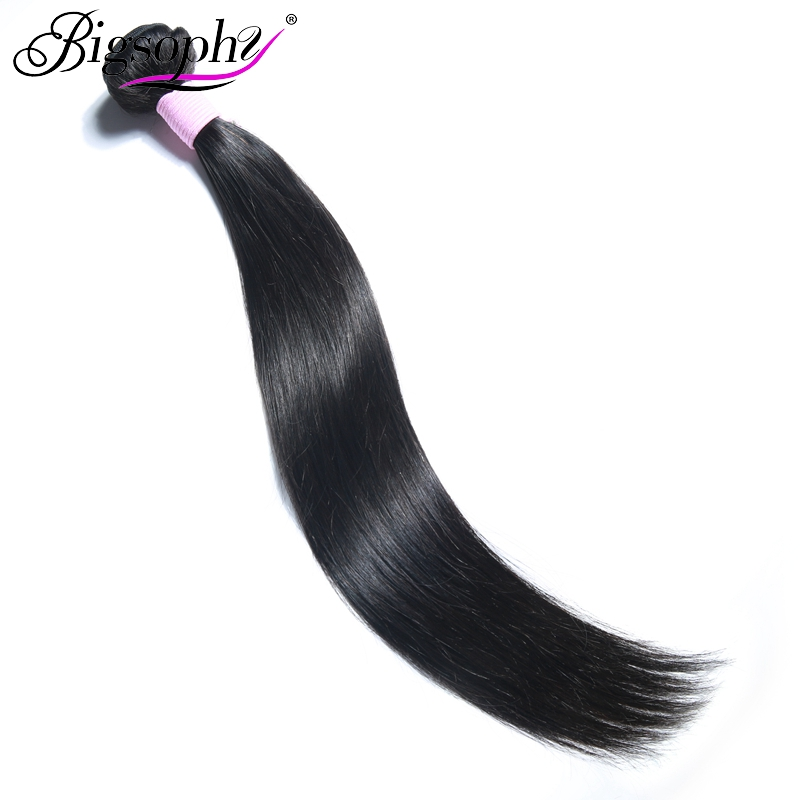 "Bigsophy Hair Brazilian Straight Human Hair Weave Bundles 8""-44"" inches Natural Color 100% Remy Human Bundle Hair Free Shipping"