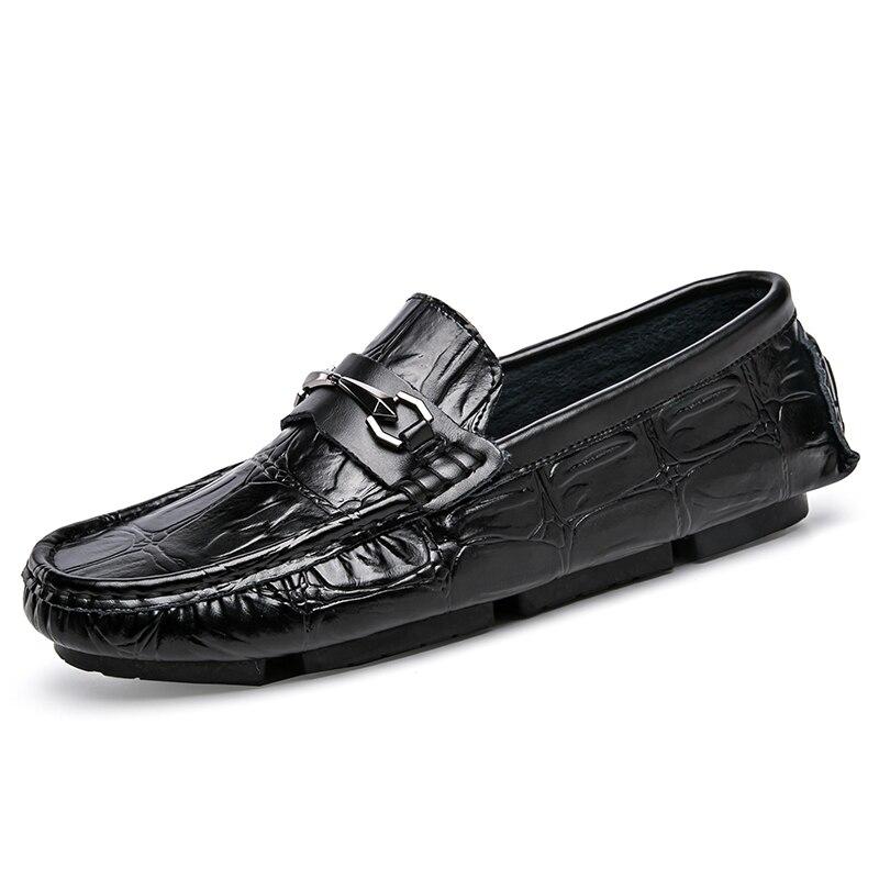 Sur Britannique Hommes Occasionnels Saisons Noir Style Véritable Goxpacer Appartements Quatre Glissent Jeune Chaussures rouge De Mode Cuir bleu Livraison Gratuite En TlFcJK1