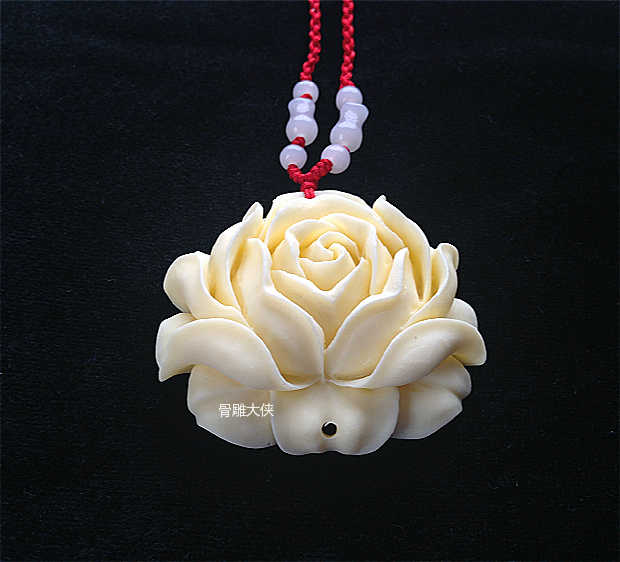 Yak Bones Carved Pendants Roses Flower Jewelry Ornaments Men And Women Necklace Carved Pendant Rose Flower Pendantrose Pendant Aliexpress