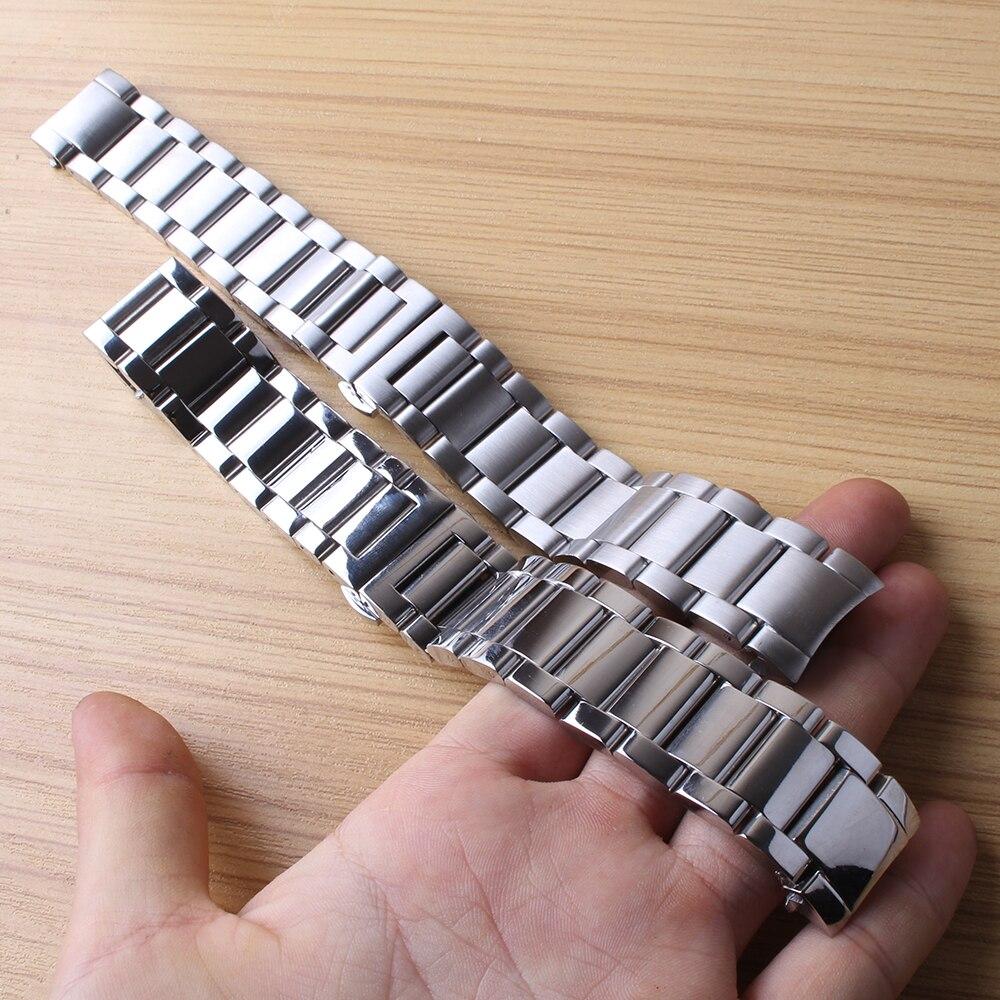 Nouveaux bracelets de montre spéciaux en acier inoxydable liens solides extrémité incurvée pour Gear S3 Frontier montres classiques ceinture de sport 22mm de haute qualité