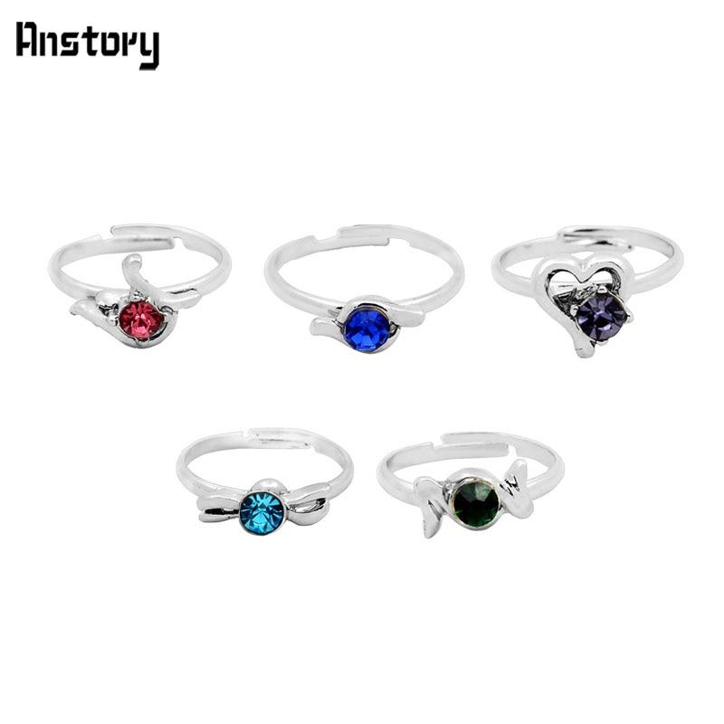 40pcs Children Crystal Rings Wholesale Ls