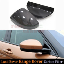 For 2014 2015 2016 Land Rover Range Rover Evoque Carbon Fiber Mirror Cover Rear View Side Mirror Add on Style