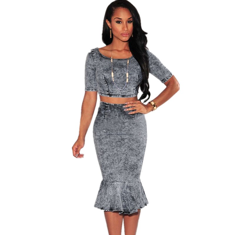 Acid-Wash-Denim-Mermaid-Skirt-Set-LC60473
