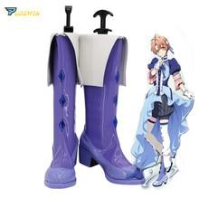 IDOLiSH7 Merchen Dream Version Nikaidou Yamato Cosplay Boots Purple Shoes