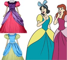 New Arrival For Adult Cinderella Sisters Costumes Anastasia Drizella A-Line Dress Cinderella Cosplay Ball Gown Costume