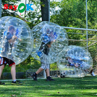 1.8m Inflatable Bubble Soccer 0.7mm TPU Air Bumper Ball Body Zorb Ball Bubble Football Bubble Soccer Ball For Sale