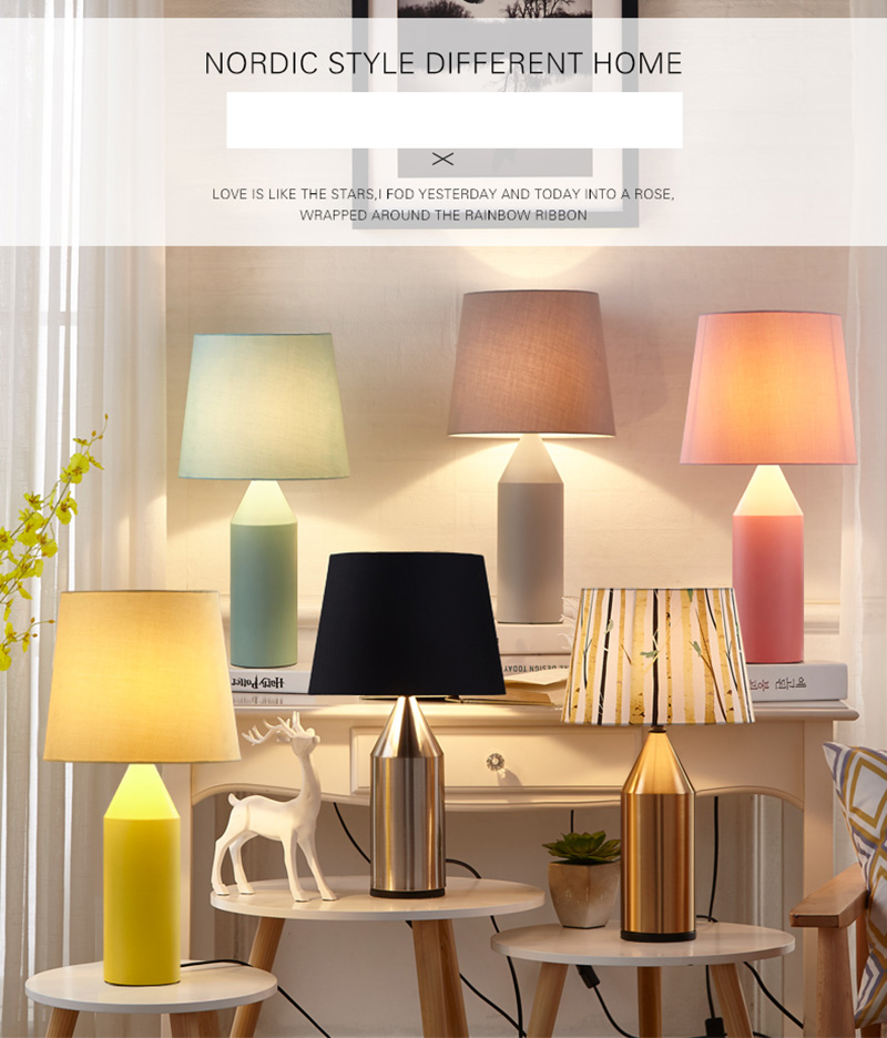 Macaron Pencil Shape Table Lamp Metal Bedside linen Fabric Lampshade lamparas de mesa Desk Light Deco Luminaria For Living Room european style table lamp wooden bedside nordic desginer lampshade lamparas de mesa desk light deco luminaria for living room