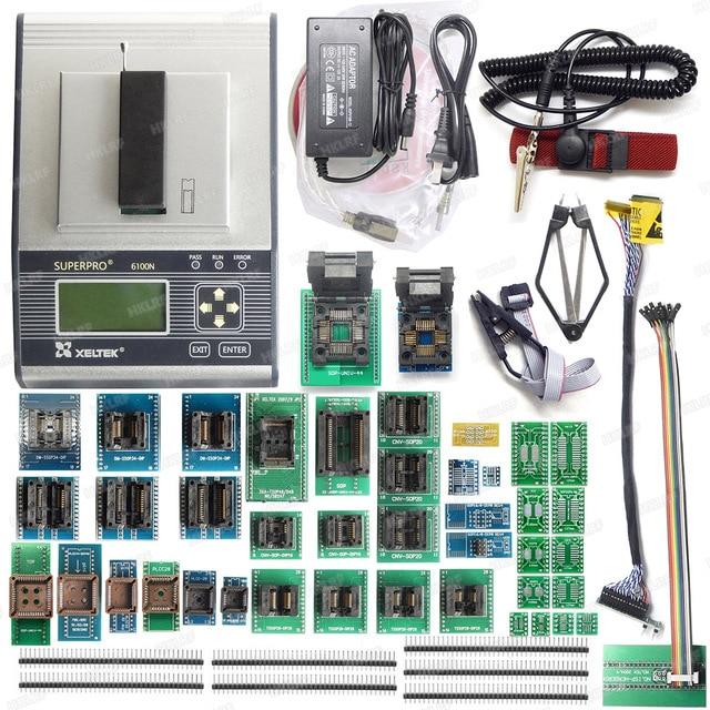100% Original New XELTEK SUPERPRO 6100 6100N Programmer +45 adapters  IC Chip Device Programmer NEWEST version  +EDID Cable
